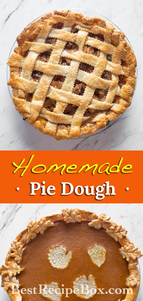 Homemade Pie Dough Recipe for Flakey Buttery Pie Dough @bestrecipebox