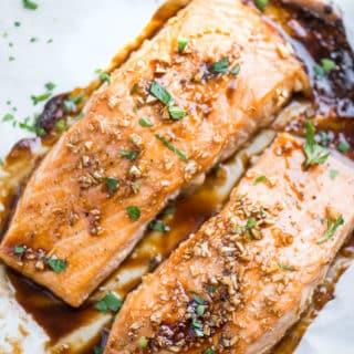 Baked Honey Garlic Salmon