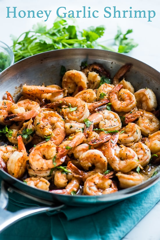 Honey Garlic Shrimp Recipe | @bestrecipebox
