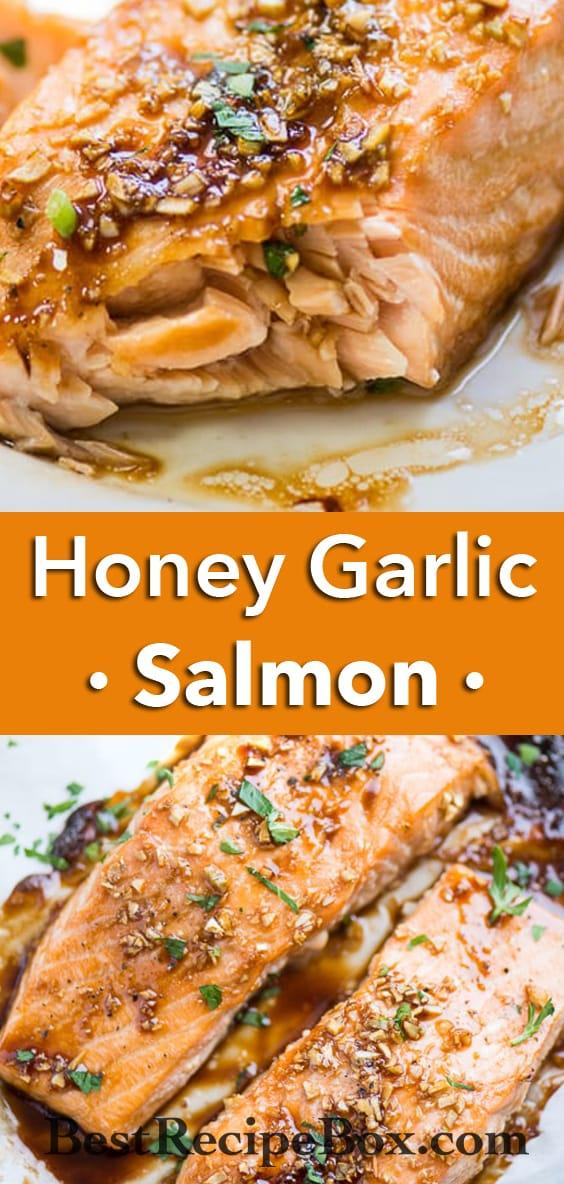 Baked Honey Garlic Salmon that's Easy Healthy Salmon Recipe | @bestrecipebox