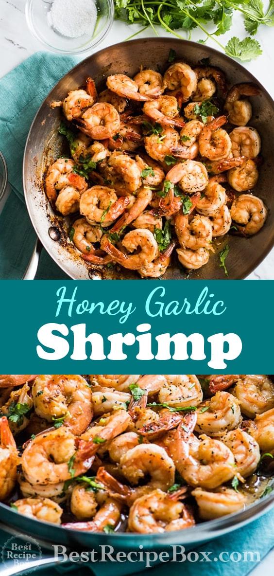 Easy Honey Garlic Shrimp Recipe in 20 minutes | @bestrecipebox