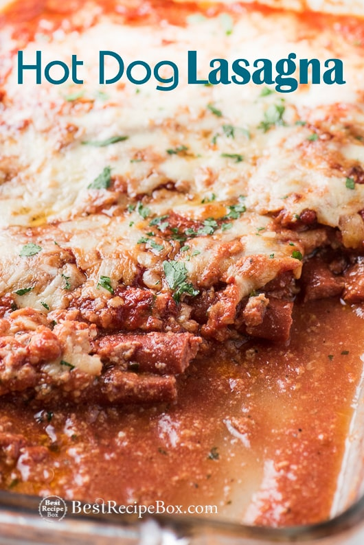 Low Carb Hot Dog Lasagna Recipe Best Hot Dog Recipe | @bestrecipebox
