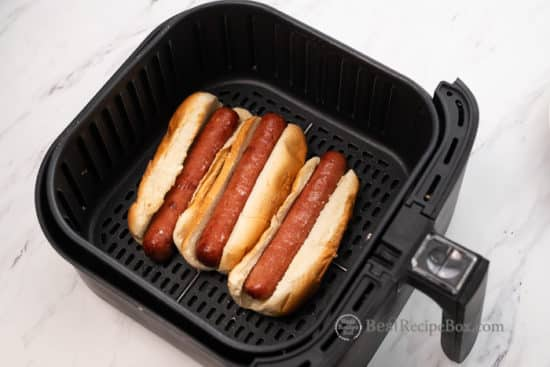 How To Cook Air Fryer Hot Dogs Recipe | @BestRecipeBox