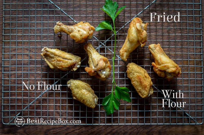 How to make fried hot wings without flour