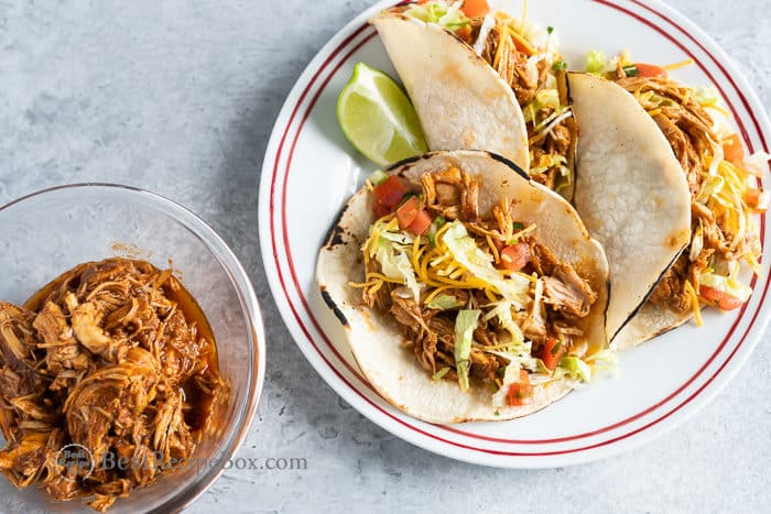 How to Make Chicken Tacos in Pressure Cooker | BestRecipeBox.com