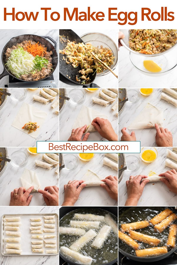 How to Make Egg Rolls Recipe that's Quick and Easy! @bestrecipebox