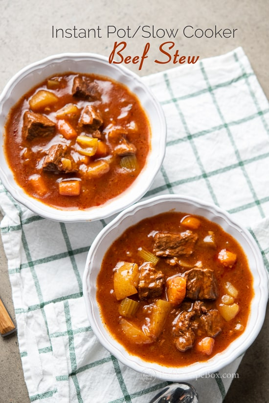 Instant Pot Beef Stew Recipe Slow Cooker Beef Stew | @bestrecipebox