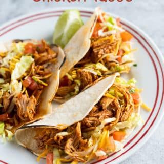 Instant Pot Chicken Tacos Recipe in Pressure Cooker   BestRecipebox.com
