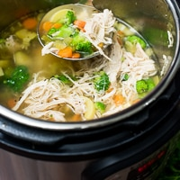 Instant-Pot Chicken Vegetable Soup (pressure cooker)