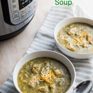 Instant Pot Creamy Garlic Chicken Broccoli Soup