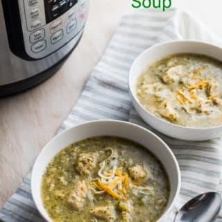 Instant Pot Creamy Garlic Chicken Broccoli Soup in Pressure Cooke or Slow Cooker   @BestRecipeBox