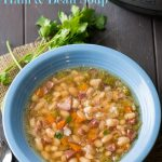 Instant Pot Ham and Bean Soup Recipe in Pressure Cooker or Slow Cooker | @bestrecipebox
