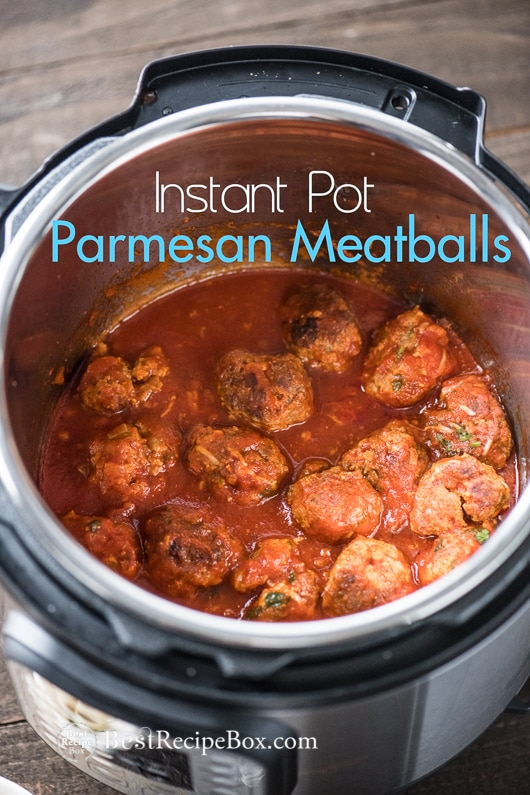 Instant Pot Meatballs Recipe or in Slow Cooker | @bestrecipebox