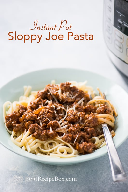 Instant Pot Sloppy Joe Pasta Recipe @bestrecipebox