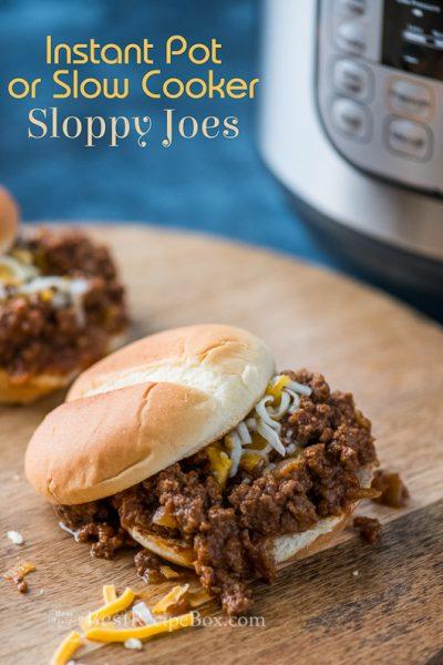 Instant Pot Sloppy Joes Recipe on board