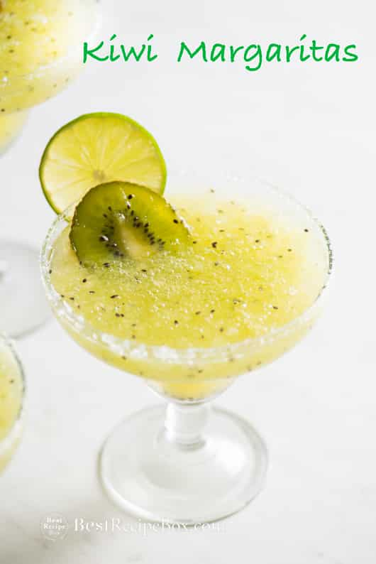 Kiwi Margaritas Recipe made from fresh kiwi! | @bestrecipebox