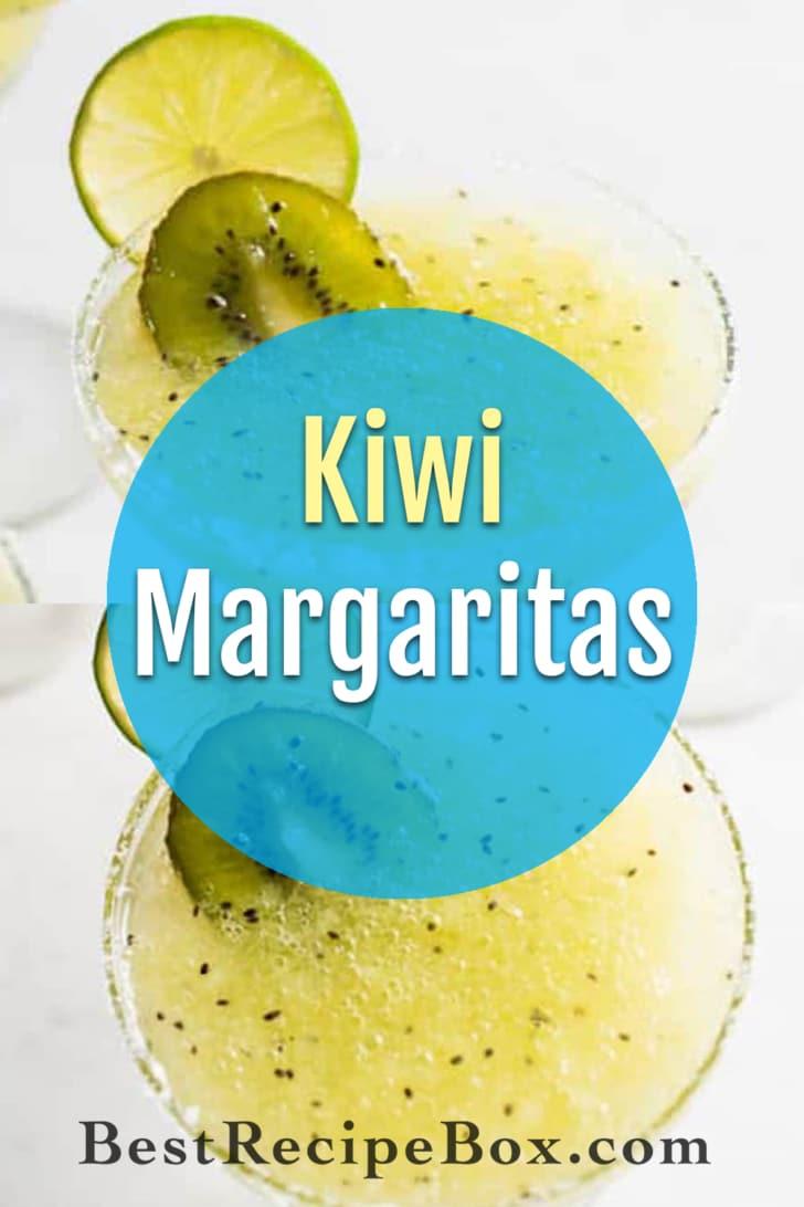 Kiwi Margaritas Recipe made from fresh kiwi!   @bestrecipebox