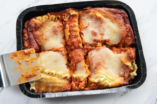 Portion Cooked Lasagna