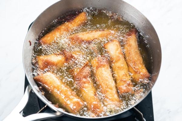 Fry Egg Rolls