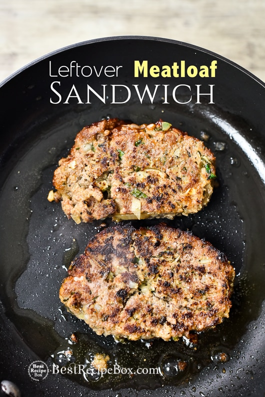 Leftover Meat Loaf Sandwich from our Juicy Meatloaf Recipe | @bestrecipebox