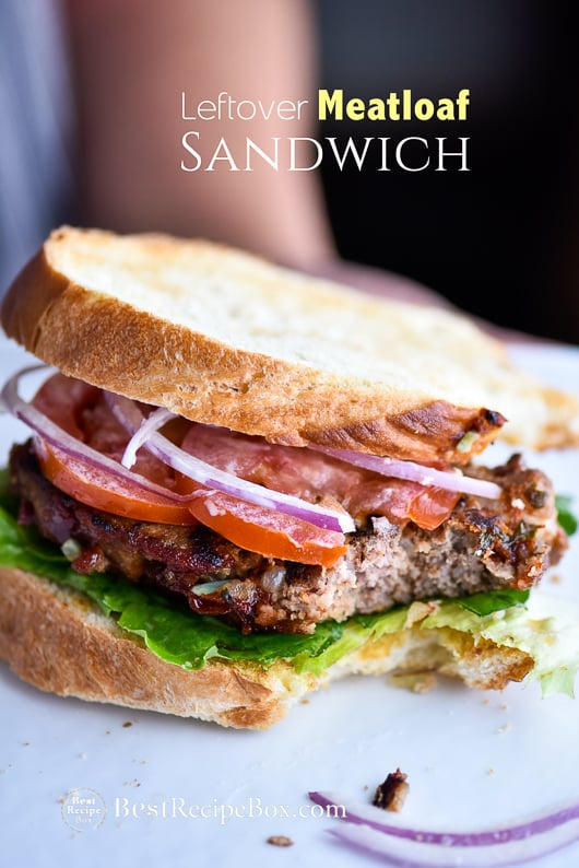 Leftover Meatloaf Sandwich Recipe from Juicy Meatloaf Recipe | @bestrecipebox