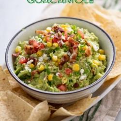 Best Loaded Guacamole Recipe with Bacon   @bestrecipebox