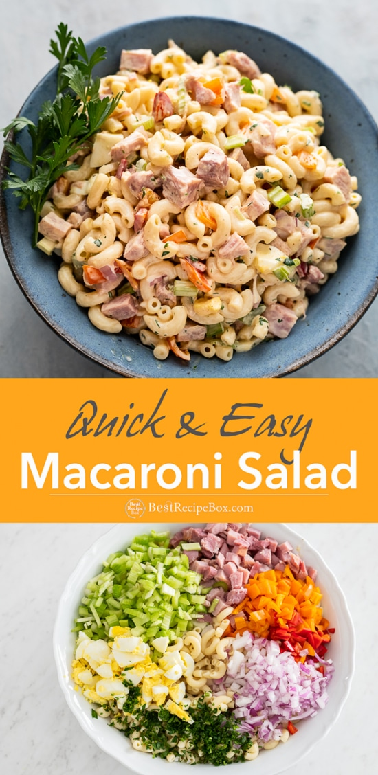 Classic Macaroni Salad Recipe with Ham step by step