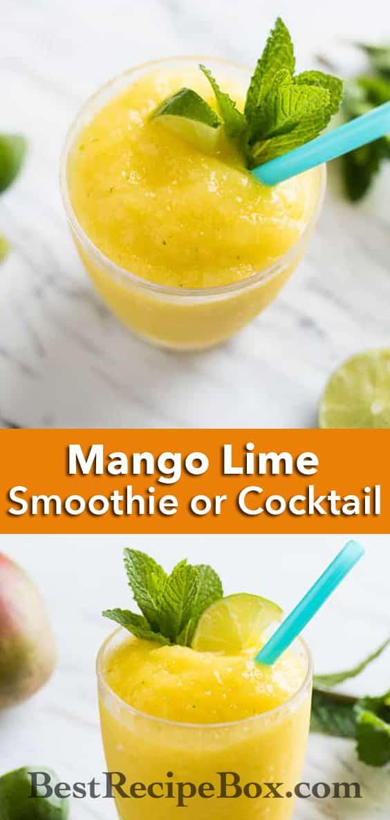 Refreshing Mango Lime Smoothie Recipe | @bestrecipebox