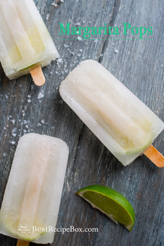 Boozy Margarita Popsicles Recipe Cocktail Pops | @bestrecipebox