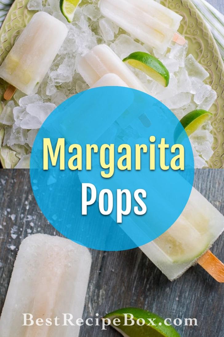 Boozy Margarita Popsicles Recipe Cocktail Pops | @bestrecipebox