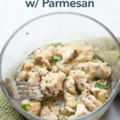 Microwave Chicken Bites Recipe with Garlic Parmesan | BestRecipeBox.com