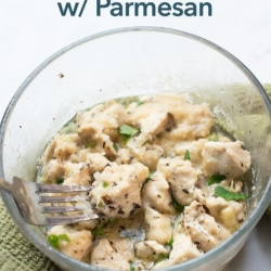 Microwave Chicken Bites Recipe with Garlic Parmesan   BestRecipeBox.com