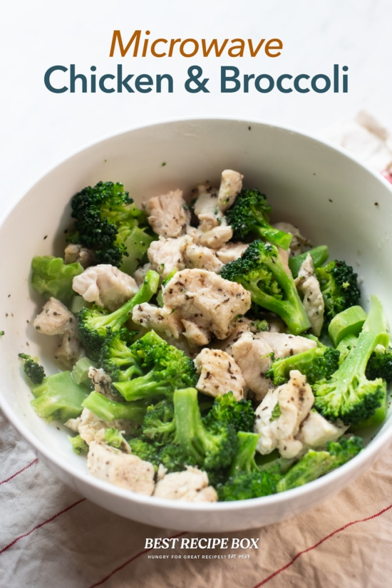 Microwave Chicken and Broccoli Recipe in bowl