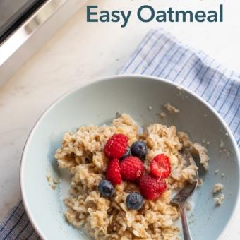 Microwave Oatmeal Recipe Quick and Easy | BestRecipeBox.com