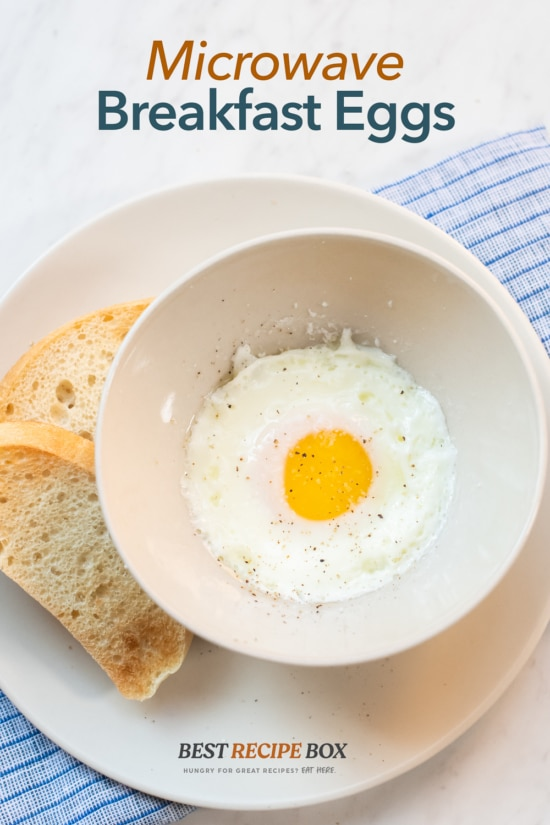 Microwave Recipe Eggs in Microwave in a bowl