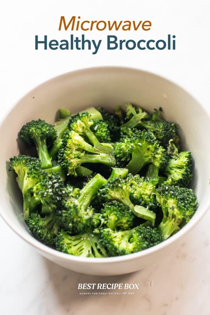 Microwave Broccoli Recipe Steamed in bowl
