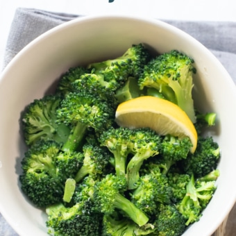 Microwave Broccoli Recipe Steamed in Microwave | BestRecipeBox.com