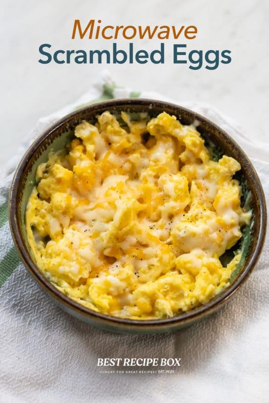 Microwave Scrambled Eggs Recipe in bowl