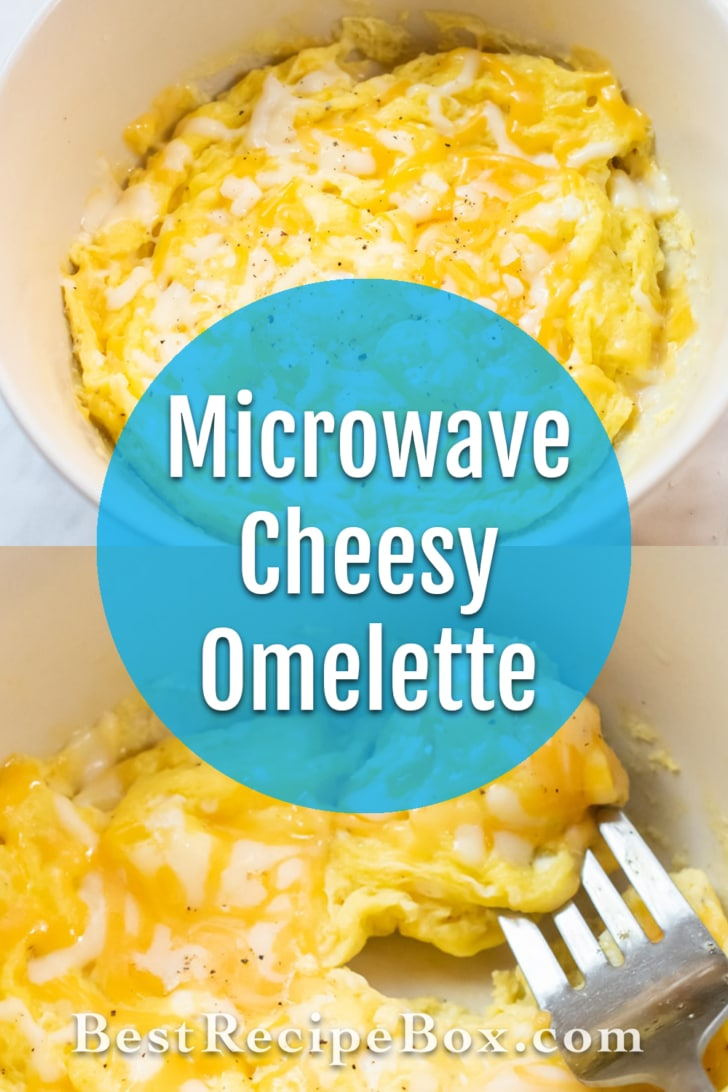 Microwave Omelette Recipe in Bowl or Mug | BestRecipeBox.com