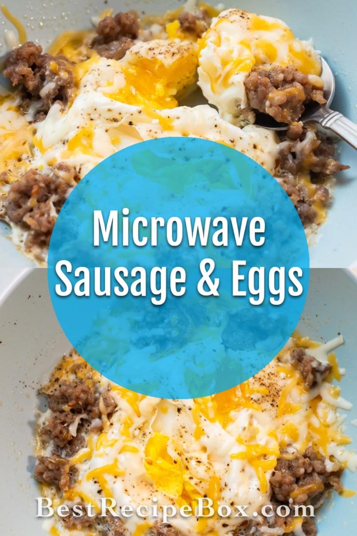 Microwave Sausage and Eggs Breakfast Recipe   BestRecipeBox.com