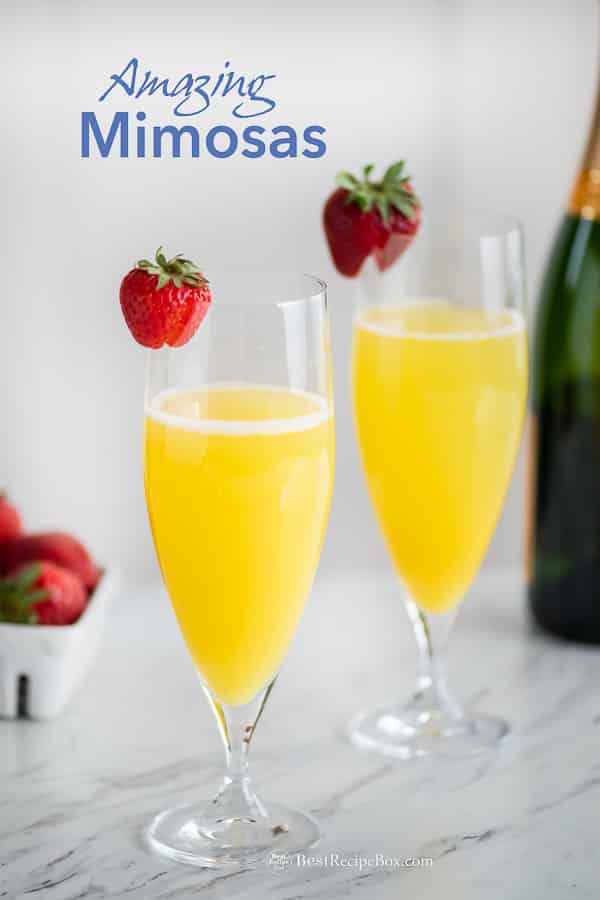 Mimosa Recipe with Sparkling Wine and Orange Juice | BestRecipeBox.com
