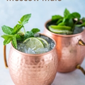 Best Moscow Mule Cocktail Recipe with Vodka, Ginger Beer | BestRecipeBox.com