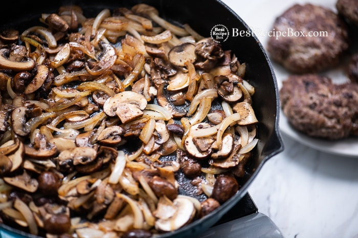 Best Mushroom gravy Recipe with Salisbury Steak @BestRecipeBox