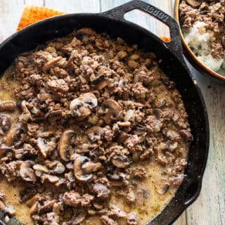 Mushroom Beef and Rice