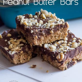 No-Bake Dark Chocolate Sea Salt Peanut Butter Bars