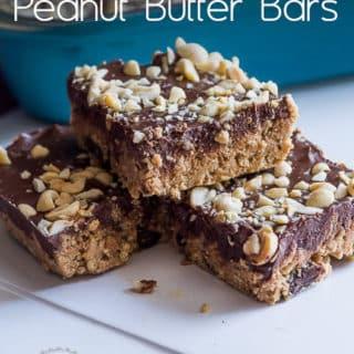 No-Bake Dark Chocolate Sea Salt Peanut Butter Bars