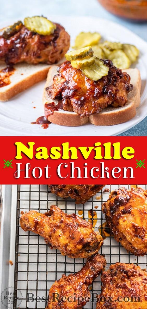Nashville Hot Chicken Recipe that's Spicy Fried Chicken @bestrecipebox