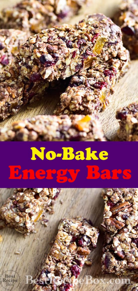 No Bake Peanut Butter Oat Energy Bars @bestrecipebox