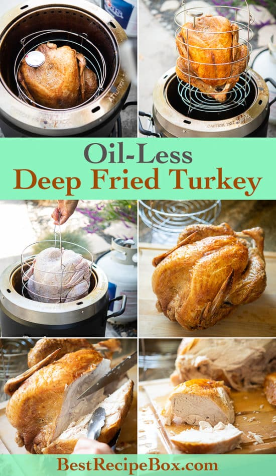 how to cook Oil Less Deep Fried Turkey in Air Fryer step by step photos