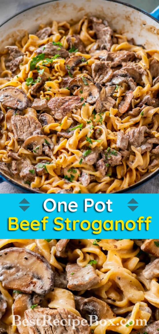 Easy Beef Stroganoff Recipe | BestRecipeBox.com